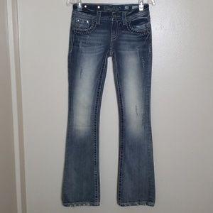 Miss me bootcut tick stitch jean